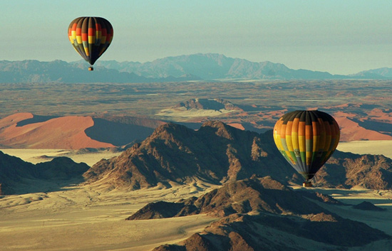 Hot Air Balloon flights over Namib Desert