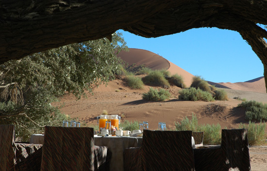 Sossusvlei Breakfast views