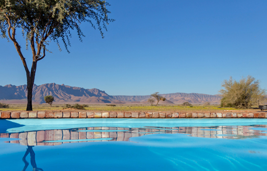 Refreshing pool at Desert Camp