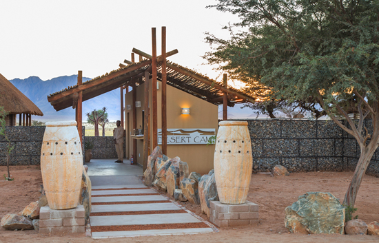 Desert Camp Reception Entrance