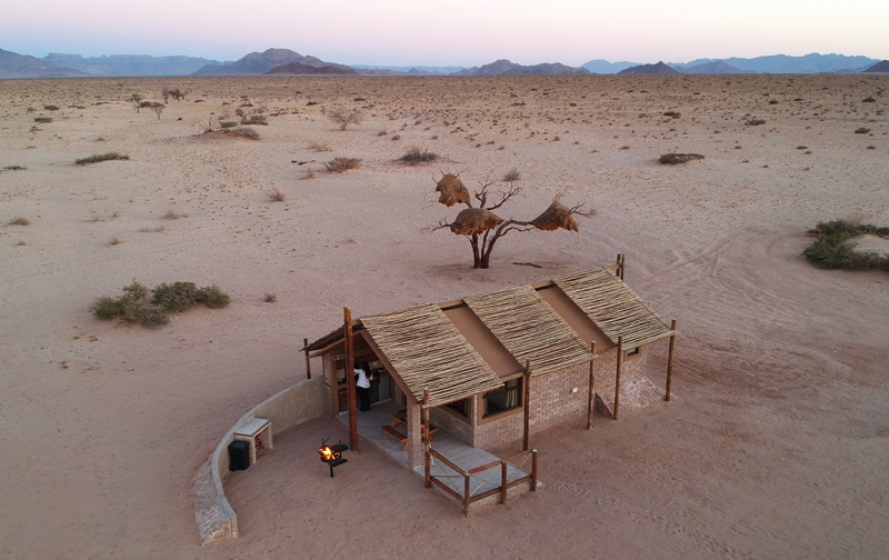Aerial View of Desert Camp Unit