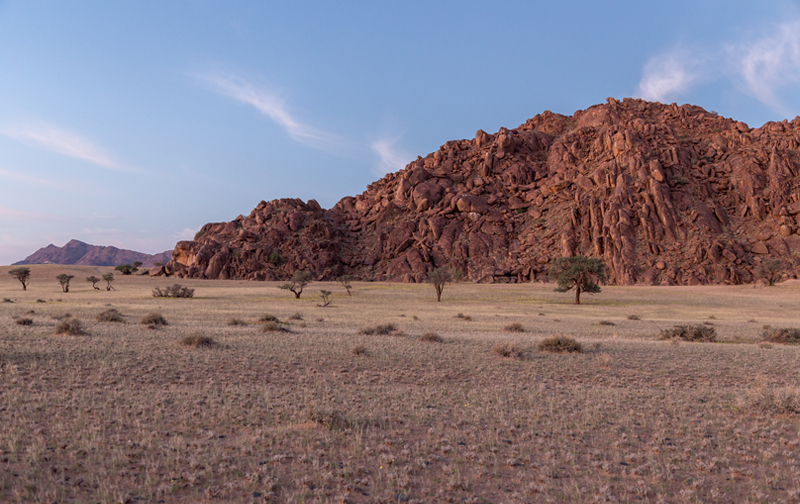 Granite Outcrops behind Desert Camp